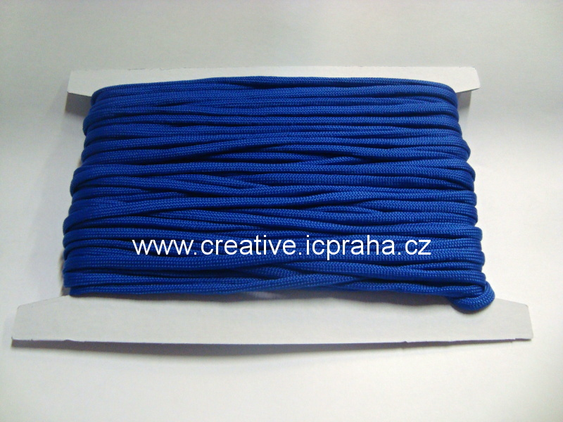 paracord 4mm modrá blue